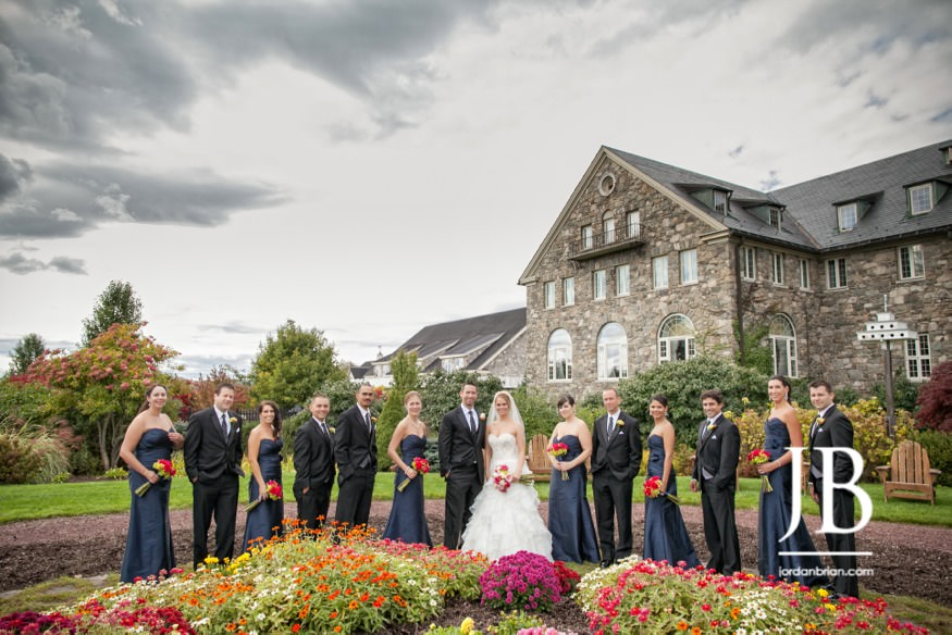 skytop lodge wedding bridal party portraits