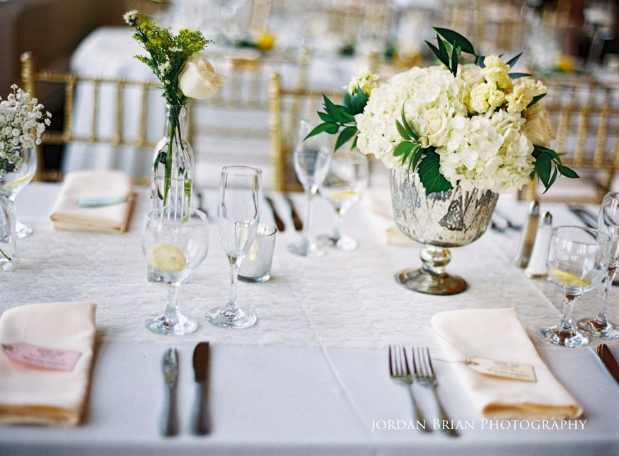 bonnet island wedding reception center pieces