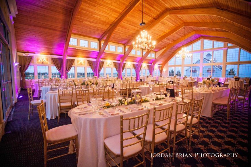 bonnet island estate reception room setup