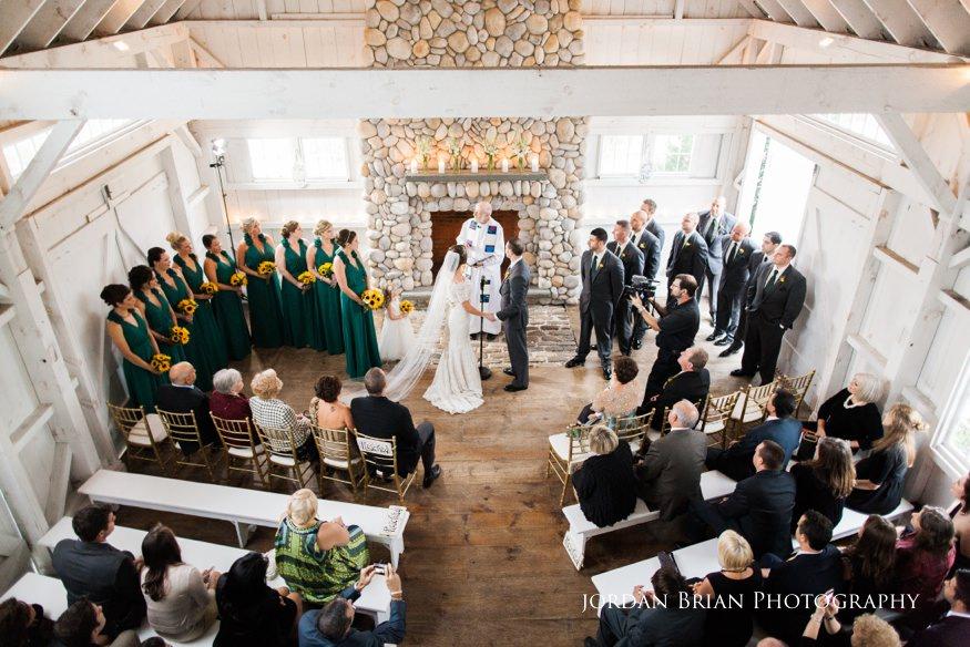 bonnet island wedding ceremony balcony view