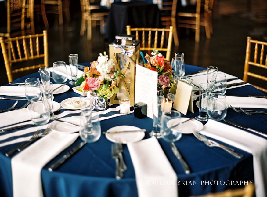 table details lake house inn wedding reception