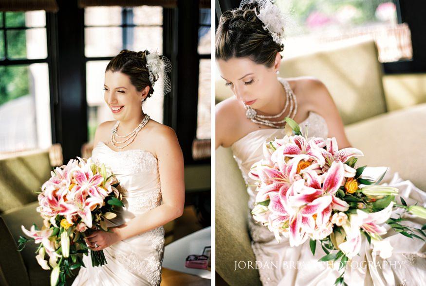bride portrait at lake house inn wedding