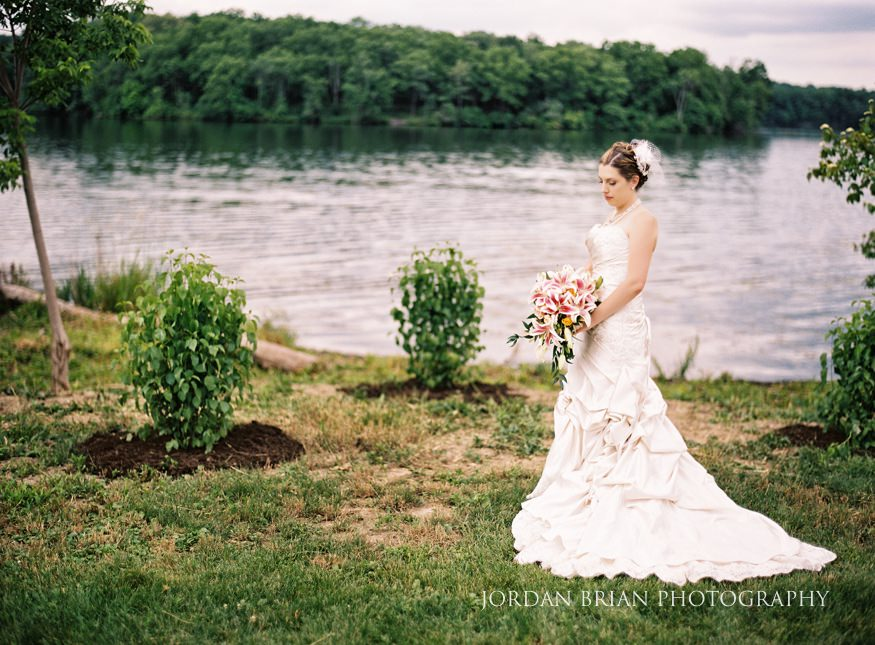 bride portraits at lake house inn wedding