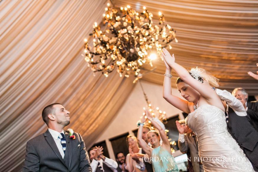bride and groom dancing lake house inn