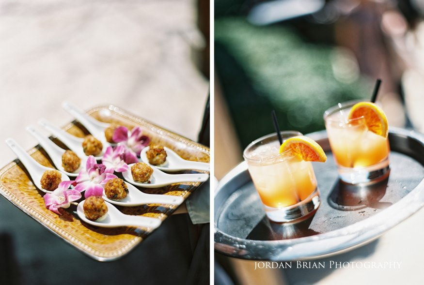 Cocktails at Grounds for Sculpture wedding