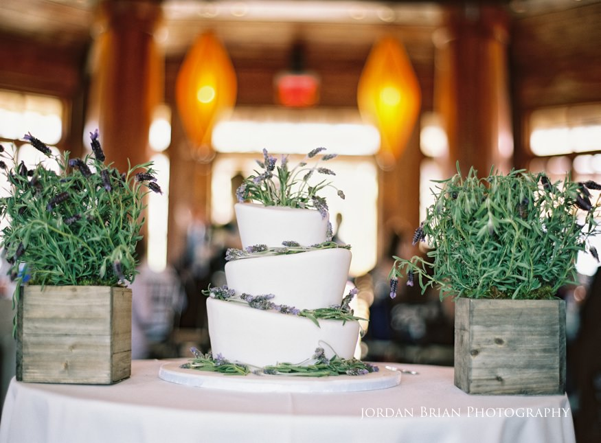 Cake at Grounds for Sculpture wedding