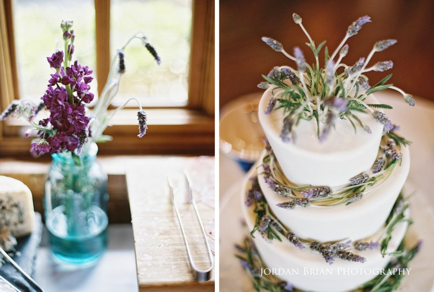 Cake and details at Grounds for Sculpture wedding