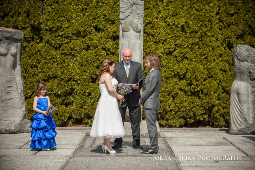 """Wedding Ceremony at """"The Nine Muses"""" at Grounds for Scultpture"""