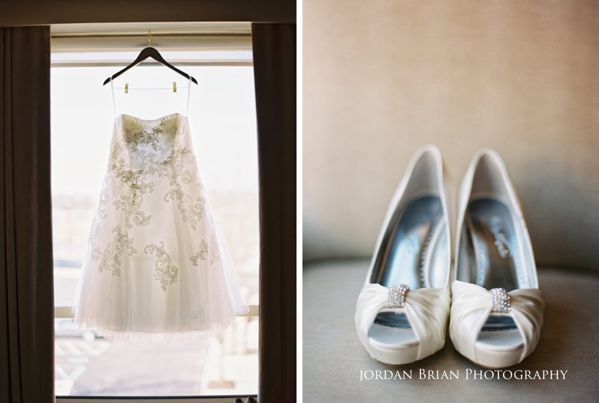 Bride's details before Grounds for Sculpture wedding