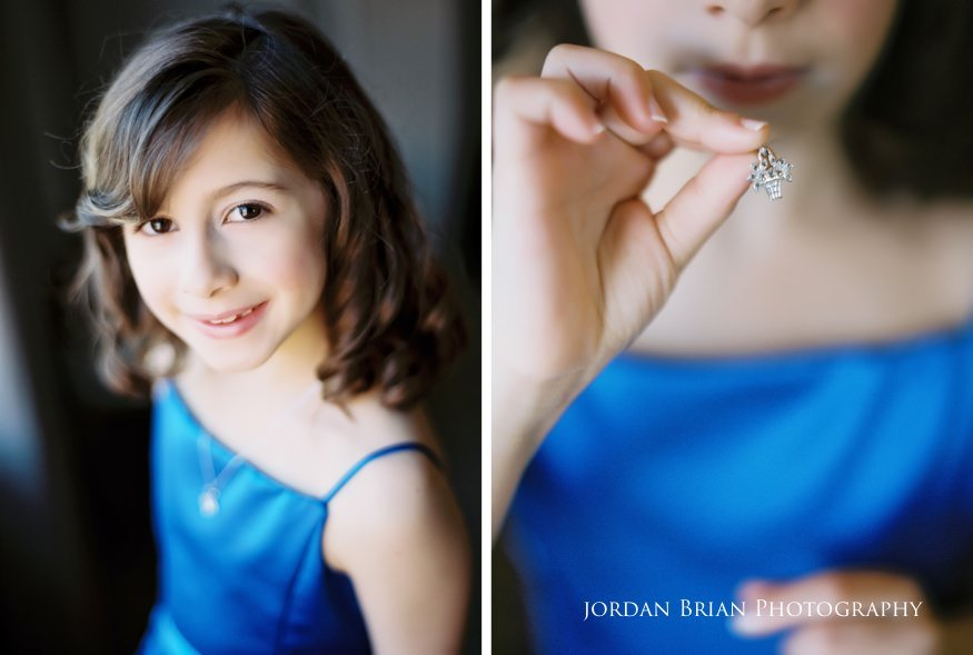 Junior bridesmaid before Grounds for Sculpture wedding