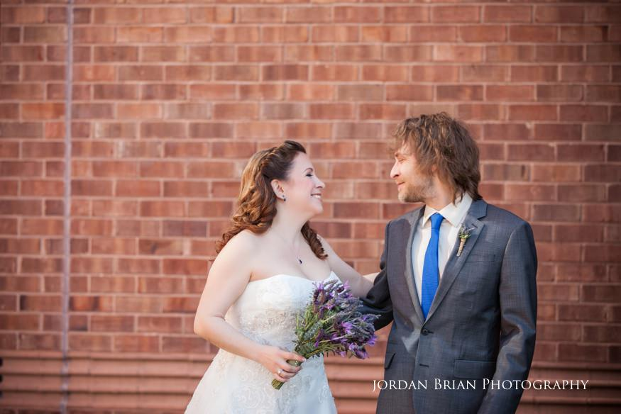 Bride and groom reveal before Grounds for Sculpture ceremony