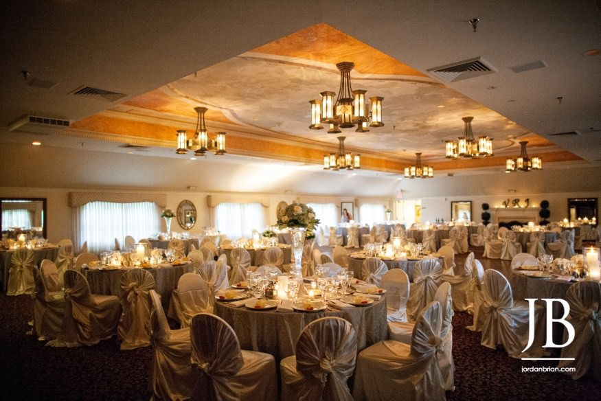 castle at skylands manor wedding reception room