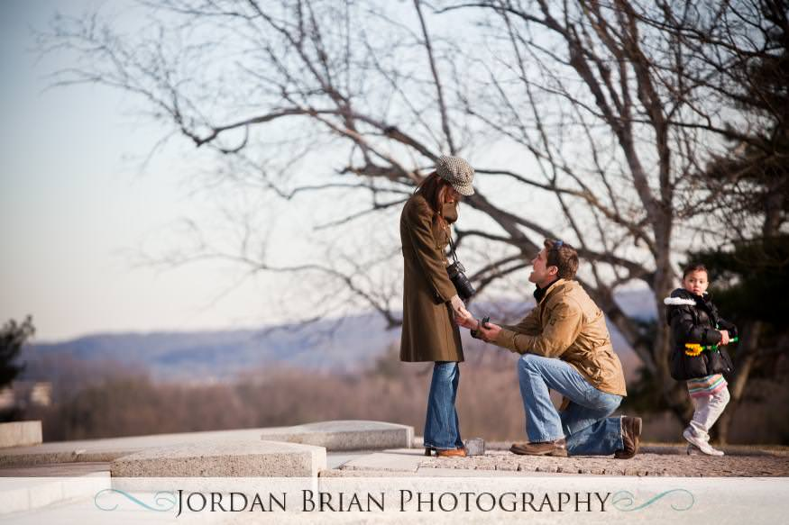 Jordan Brian Photography – Philadelphia Wedding Photography – Proposal – Valley Forge - on one knee