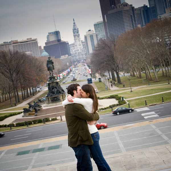 Philadelphia Engagement Photos - Laura & John