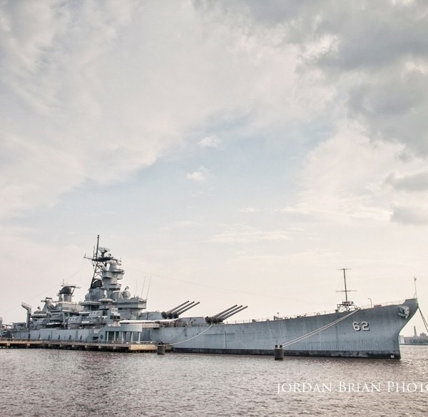 Engagement Session on Battleship New Jersey - Denise & Tom