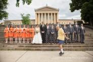 Art Museum bridal party portrait