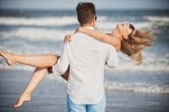 sea isle city engagement photo