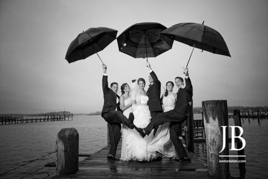 Point Pleasant beach wedding photos at Clark's Landing