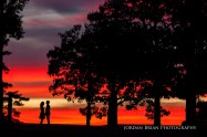 Sunset photo of Couple at Longwood Gardens Engagement session