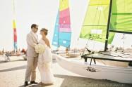 Ocean City Yacht Club Wedding Portrait