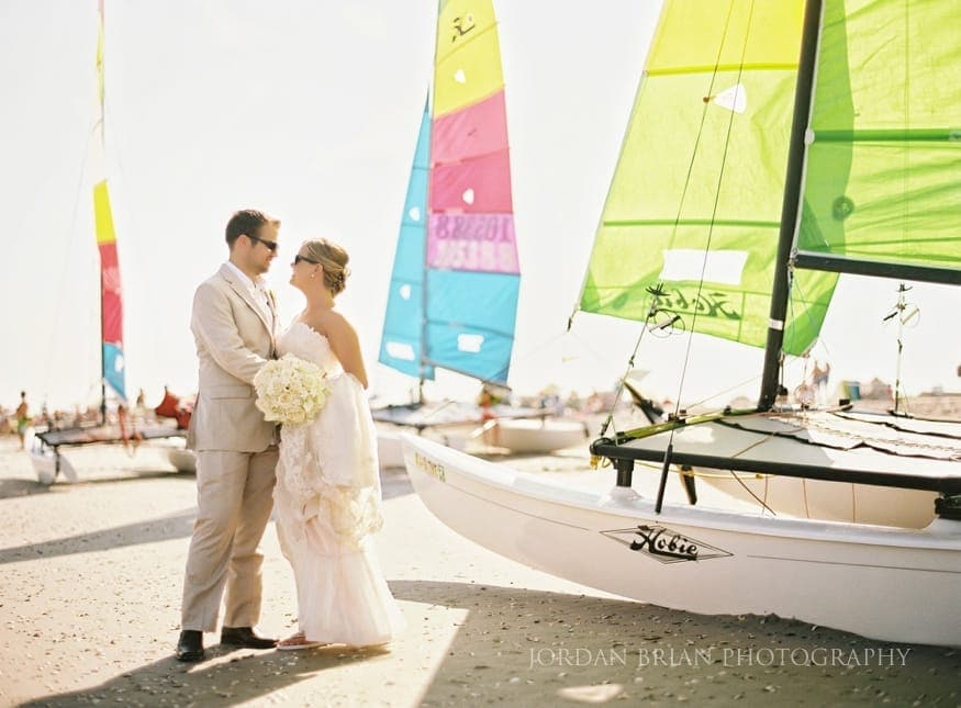 Ocean City Yacht Club Wedding Portrait