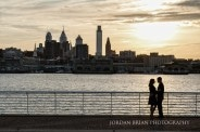 Rutgers Engagement session at Camden Riverfront