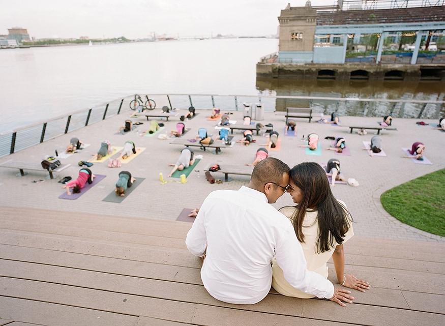 race street pier engagement yoga class