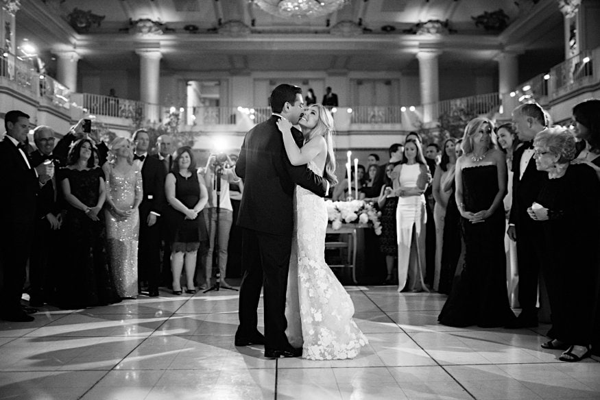 bellevue wedding first dance couple