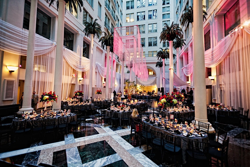 Curtis Center wedding reception space