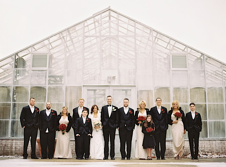 Fairmount Park Horticulture Center wedding bridal party