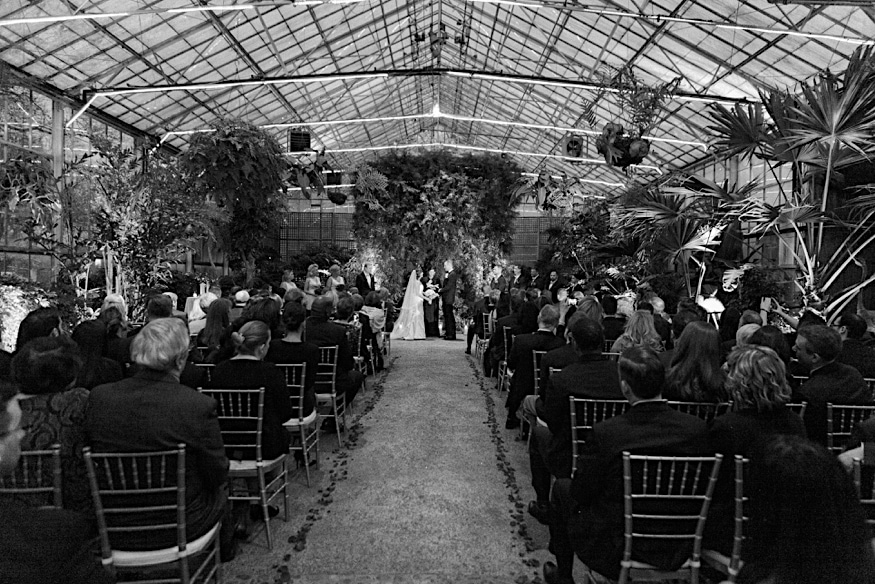 Fairmount Park Horticulture Center wedding ceremony vows
