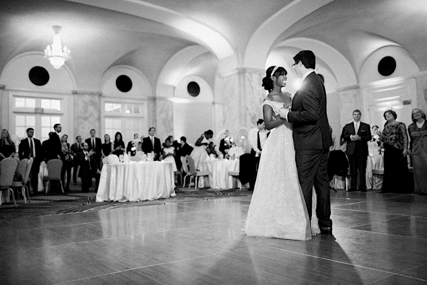 Ritz Carlton Philadelphia wedding couple first dance