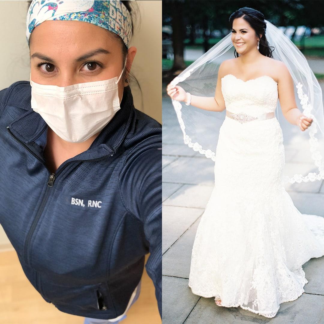 philadelphia bride nurse covid-19 Alicia