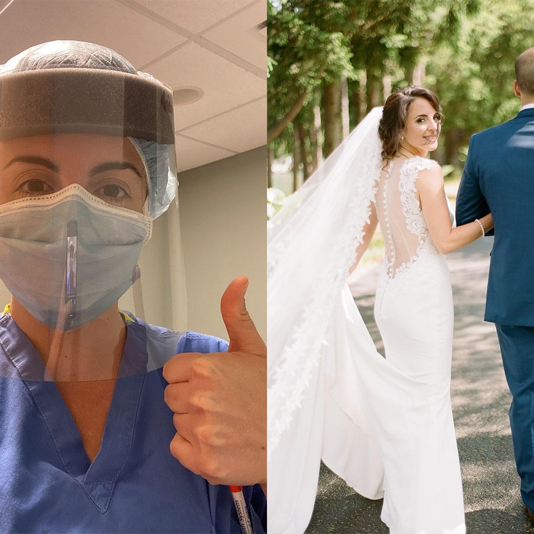 philadelphia bride nurse covad-19 Arianna