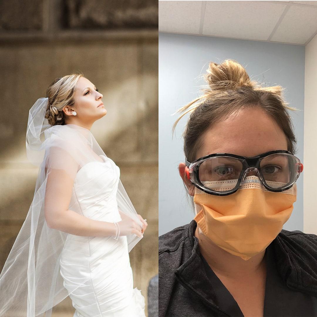 philadelphia bride nurse covad-19 vue on 50