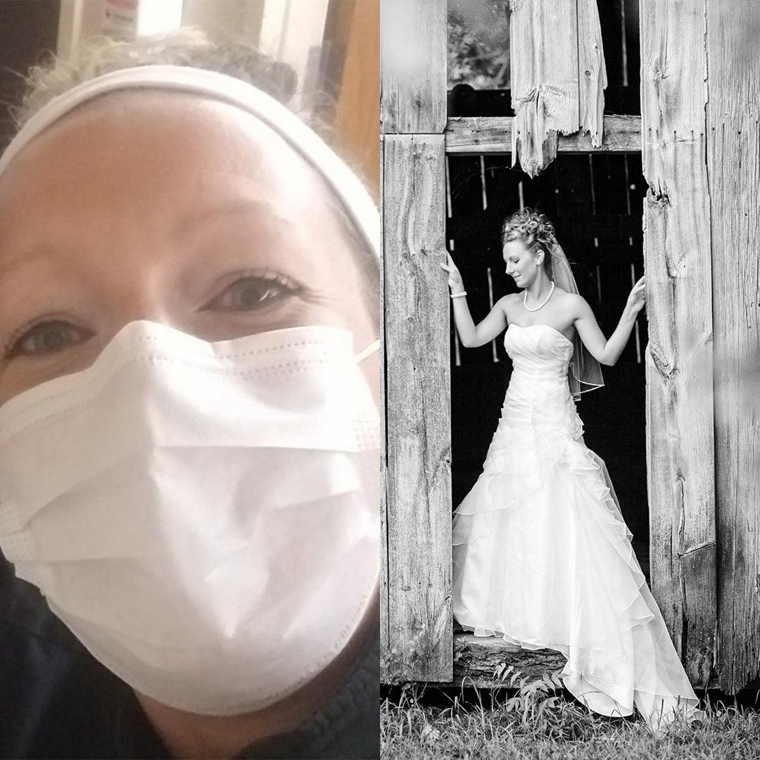 philadelphia bride nurse covad-19 Jen