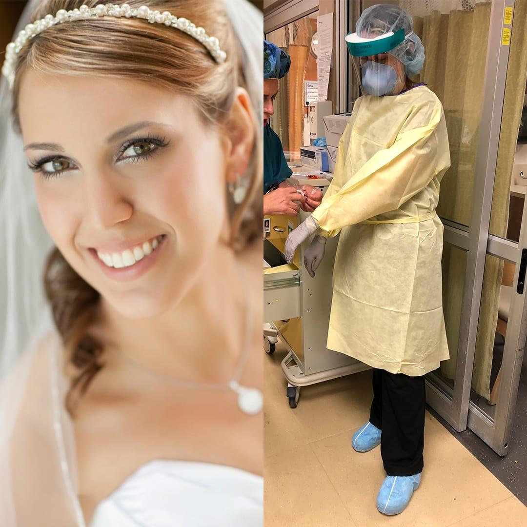 philadelphia bride nurse covad-19 jillian