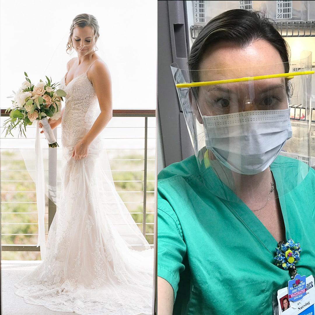 philadelphia bride nurse covad-19 windrift bride