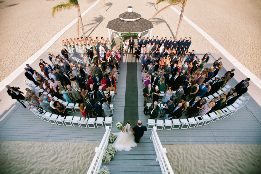Best Jersey Shore wedding venue windows on the water sea bright ceremony on beach