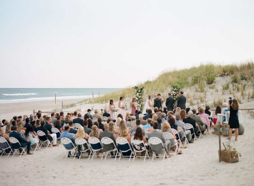 Best Jersey shore wedding venue Windrift Avalon Beach Ceremony